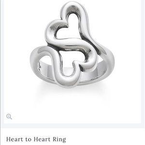 James Avery Heart to Heart Ring